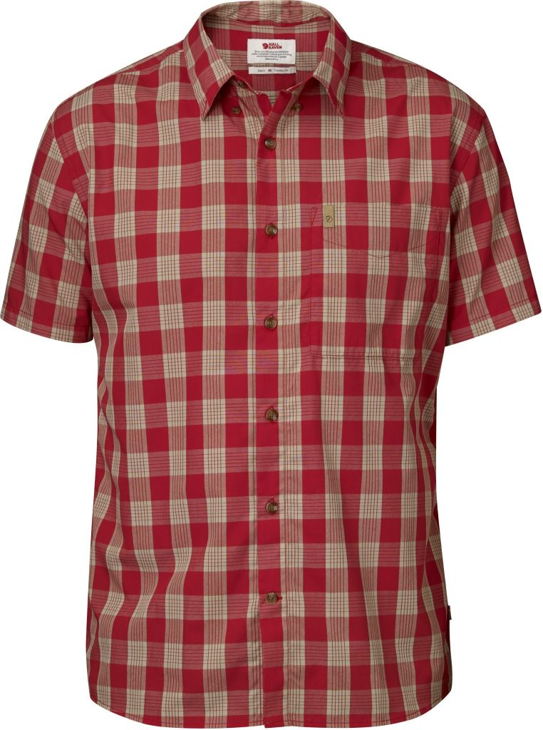 FjallRaven Övik Button Down Shirt SS Red-30