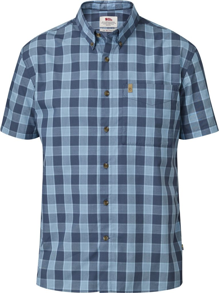 FjallRaven Övik Button Down Shirt SS Uncle Blue-30