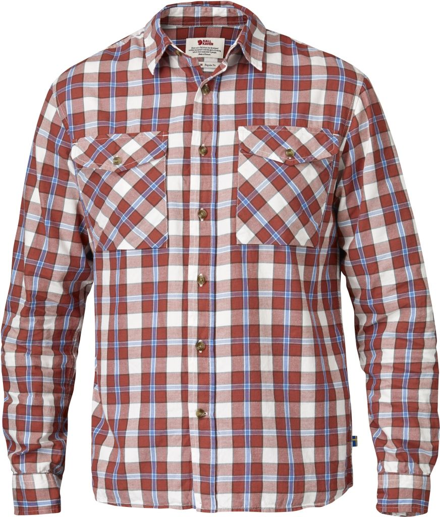 FjallRaven Sarek Flannel Shirt LS Red-30