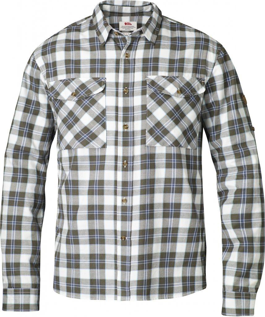 FjallRaven Sarek Flannel Shirt LS Olive-30