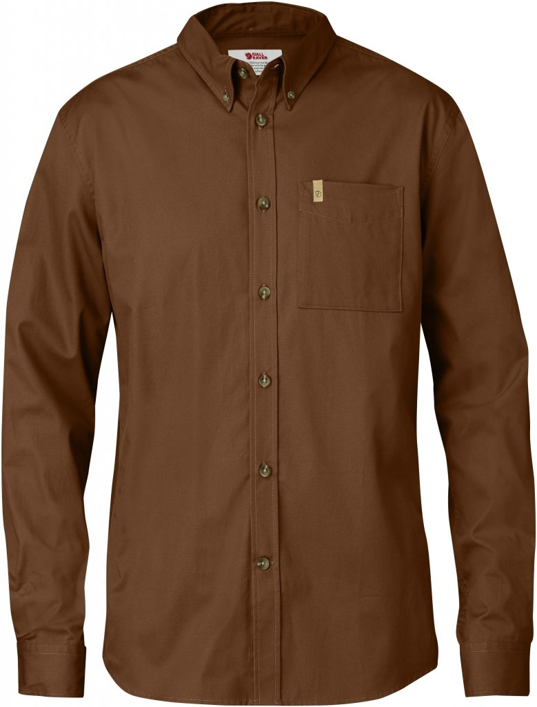 FjallRaven Ovik Solid Twill Shirt LS Chestnut-30