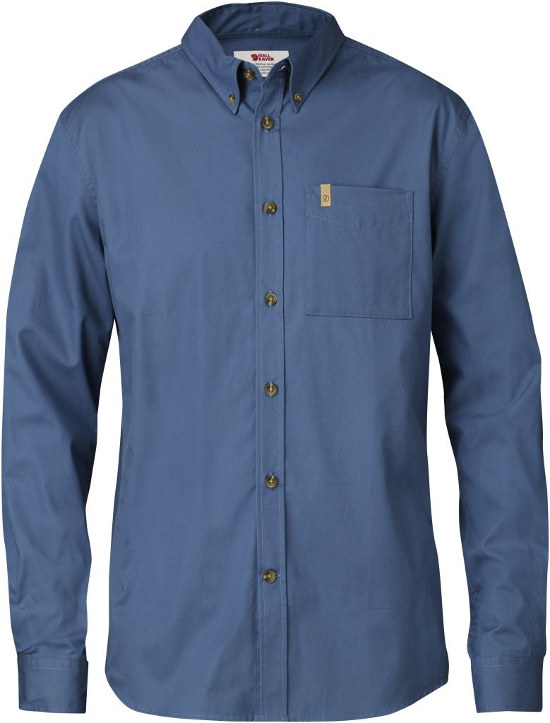 FjallRaven Övik Solid Twill Shirt LS Uncle Blue-30