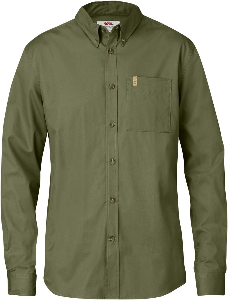 FjallRaven Övik Solid Twill Shirt LS Green-30