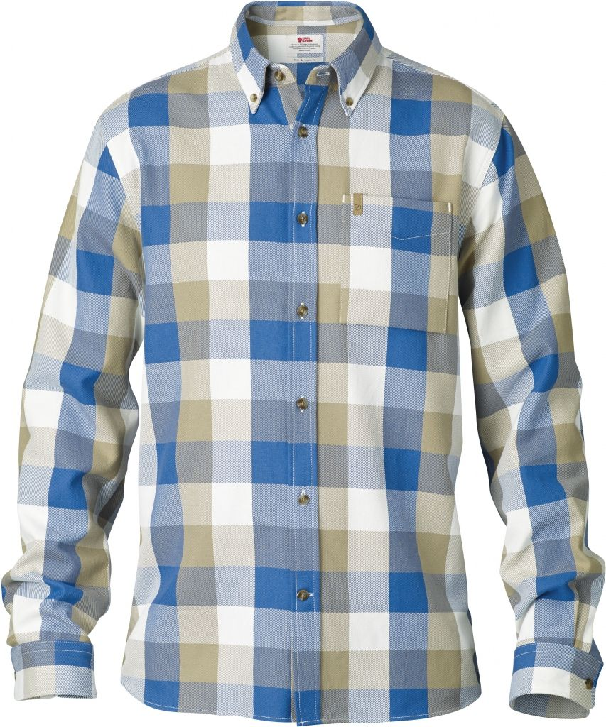 FjallRaven Övik Big Check Shirt LS Cork-30