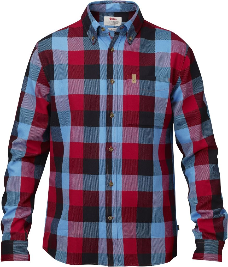 FjallRaven Övik Big Check Shirt LS Red-30