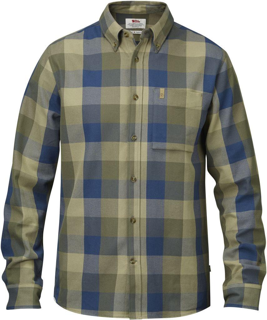 FjallRaven Övik Big Check Shirt LS Uncle Blue-30