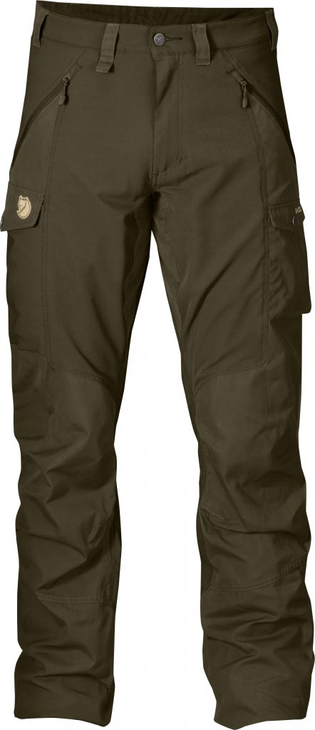 FjallRaven Abisko Trousers Dark Olive-30