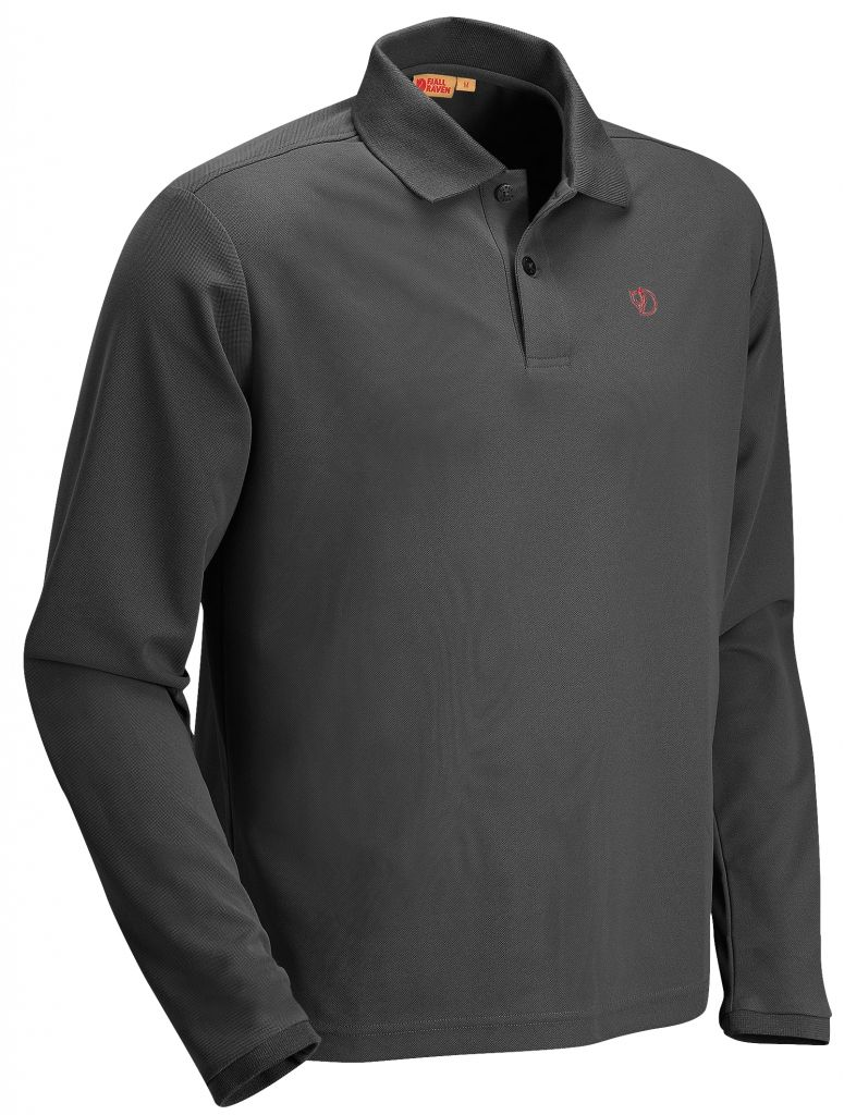 FjallRaven Crowley Long Sleeve Pique Dark Grey-30