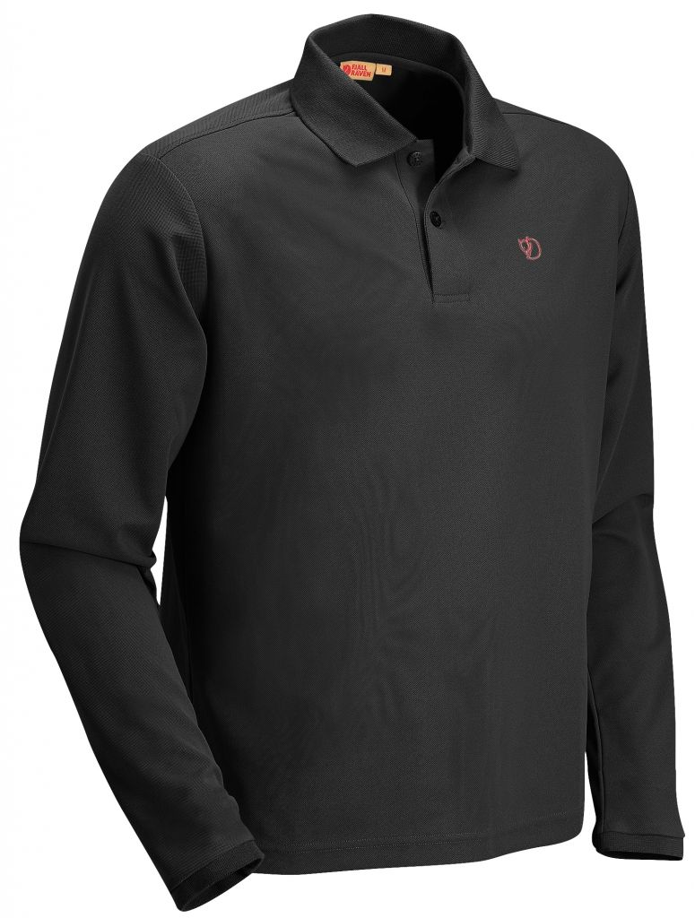 FjallRaven Crowley Long Sleeve Pique Black-30