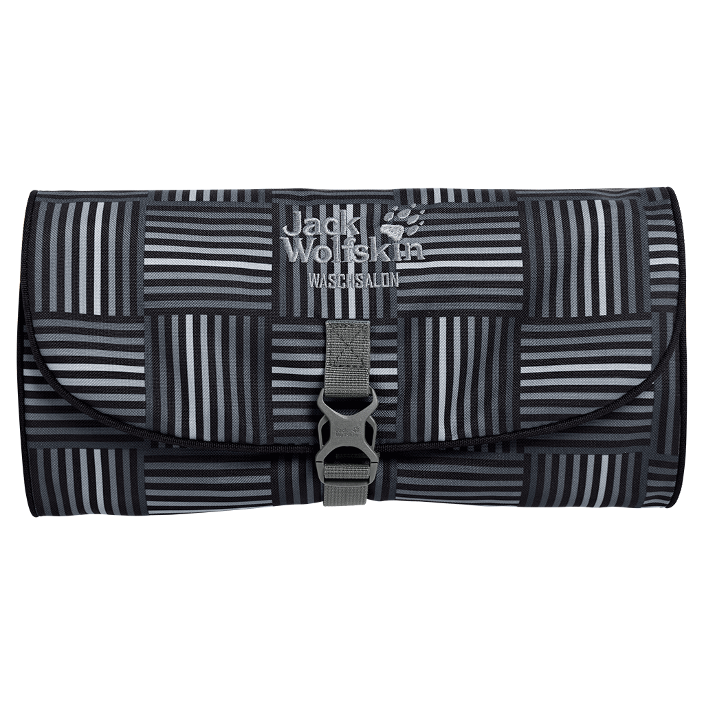 Jack Wolfskin - Waschsalon black woven checks - Sponge Bags -