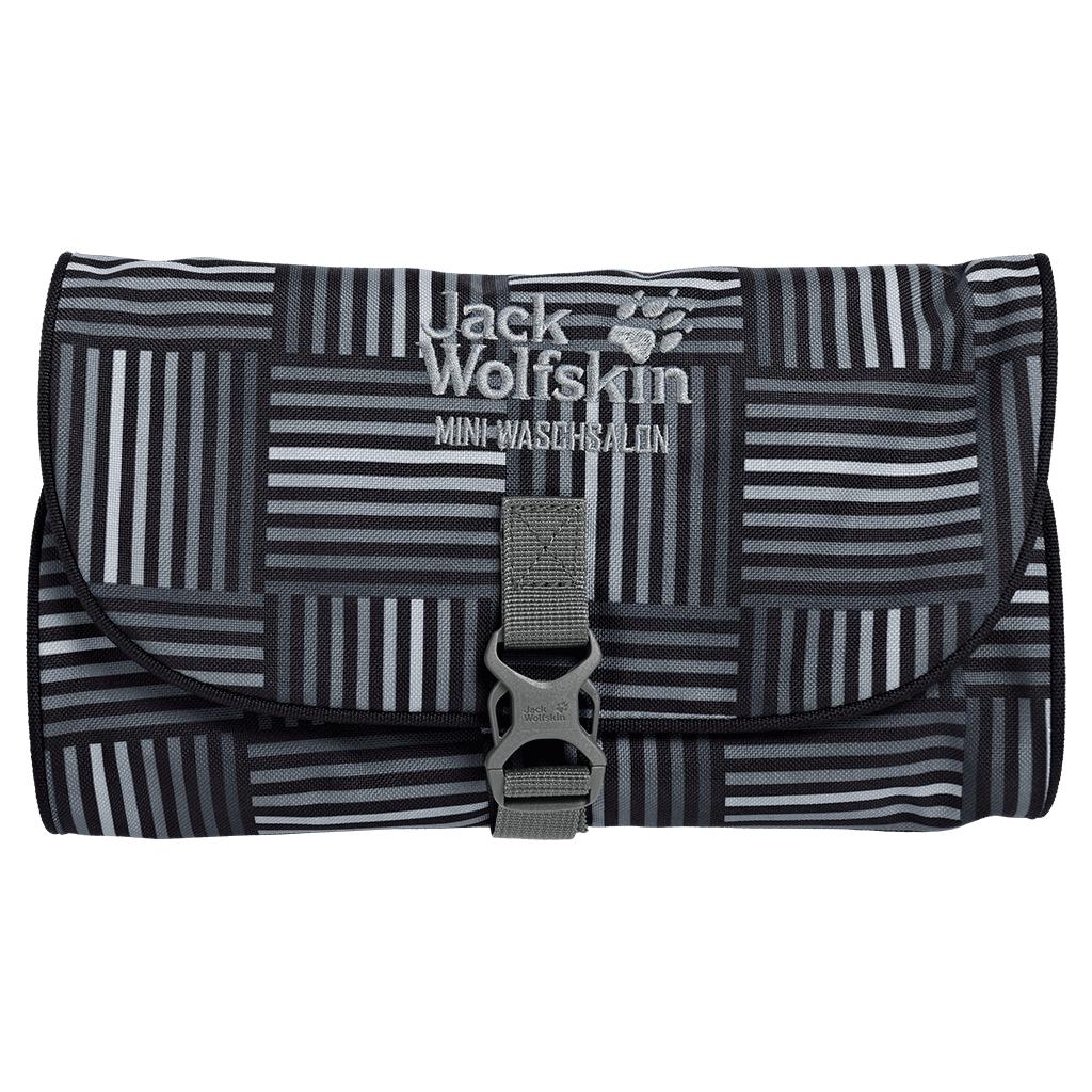 Jack Wolfskin - Mini Waschsalon black woven checks - Sponge Bags -