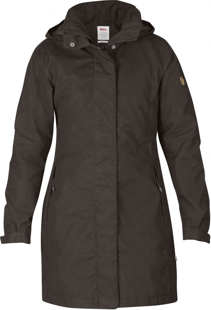 FjallRaven Una Jacket Black Brown-30