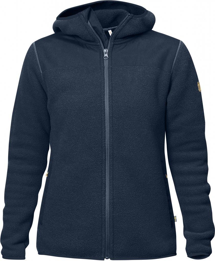 FjallRaven - Sarek Fleece Hoodie W Navy - Woll Jackets - L