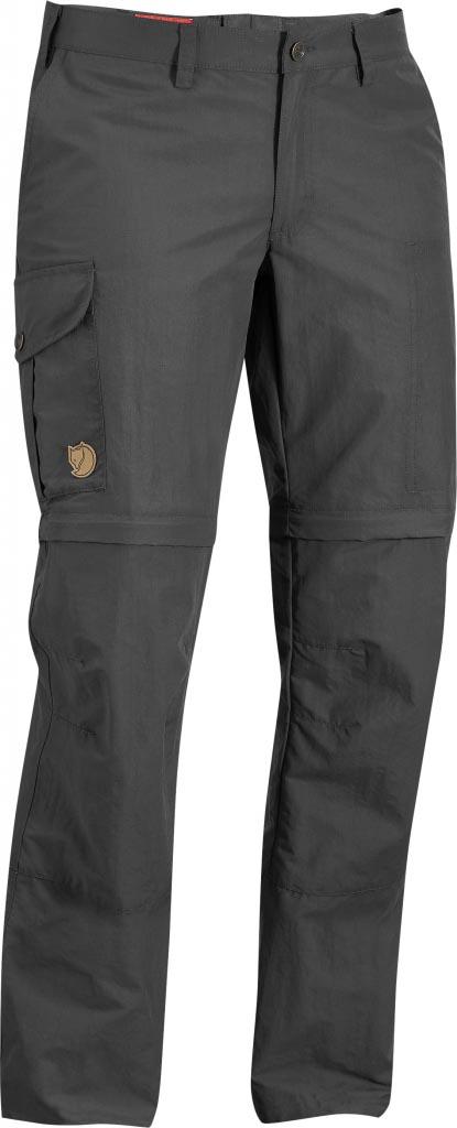 FjallRaven - Karla Zip-Off MT Trousers Dark Grey - Zip-Off Pants - 44