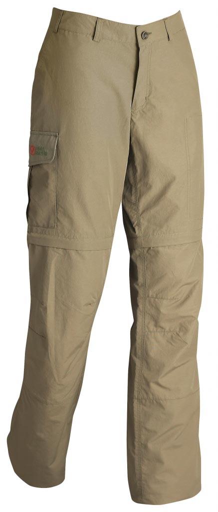 FjallRaven - Karla Zip-Off MT Trousers Light Khaki - Zip-Off Pants - 46