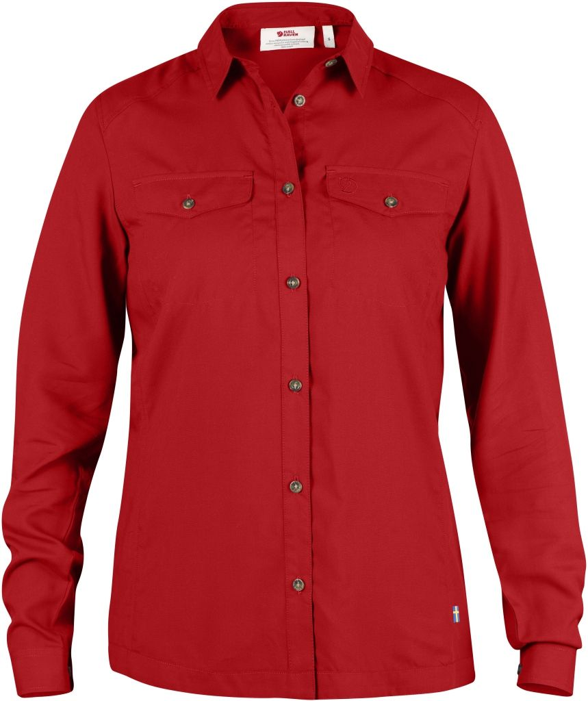 FjallRaven Abisko Vent Shirt LS W. Red-30