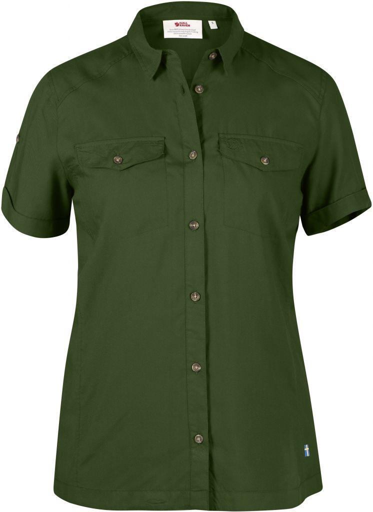 FjallRaven Abisko Vent Shirt SS W. Pine Green-30
