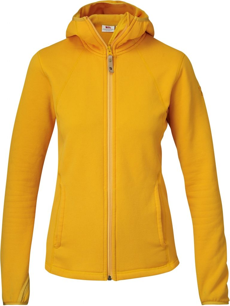 FjallRaven Abisko Fleece Hood W Campfire Yellow-30