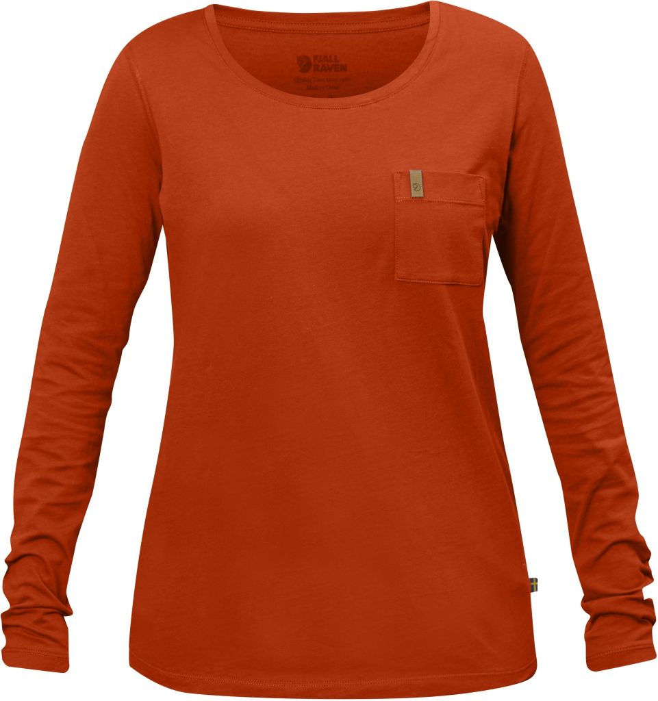 FjallRaven Övik Pocket T-shirt LS W Flame Orange-30
