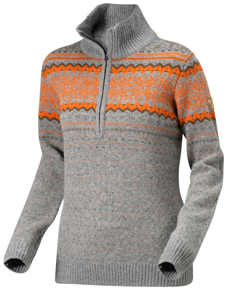 FjallRaven - Vika Sweater Grey - Woll Sweaters - L