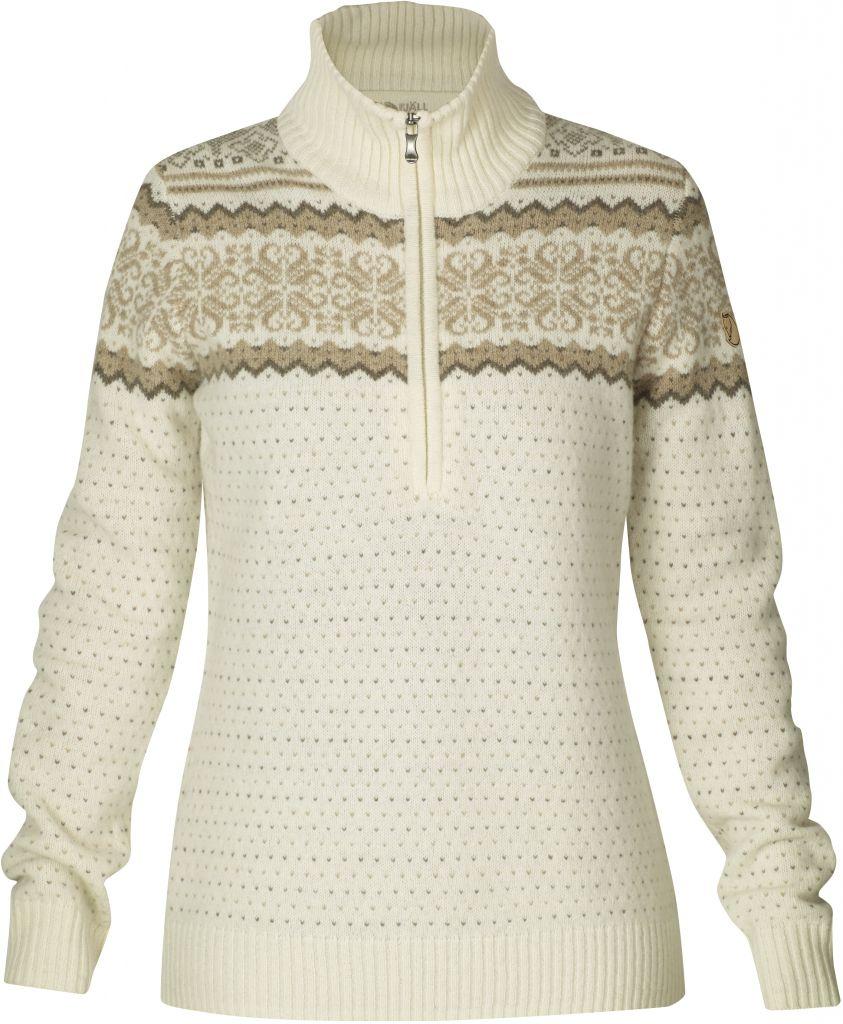 FjallRaven - Vika Sweater Ecru - Woll Sweaters - L