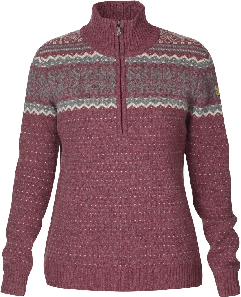 FjallRaven - Vika Sweater Wild Ginger - Woll Sweaters - M