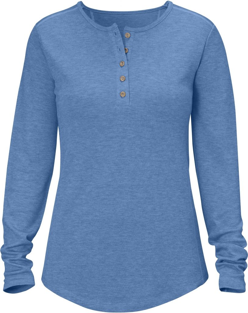 FjallRaven Övik Base Button Neck UN Blue-30