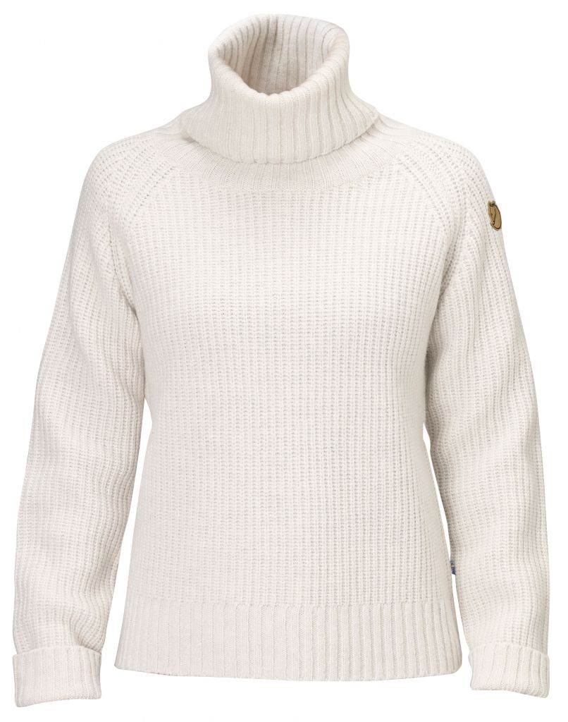 FjallRaven Övik Wool Roll Neck Ecru-30