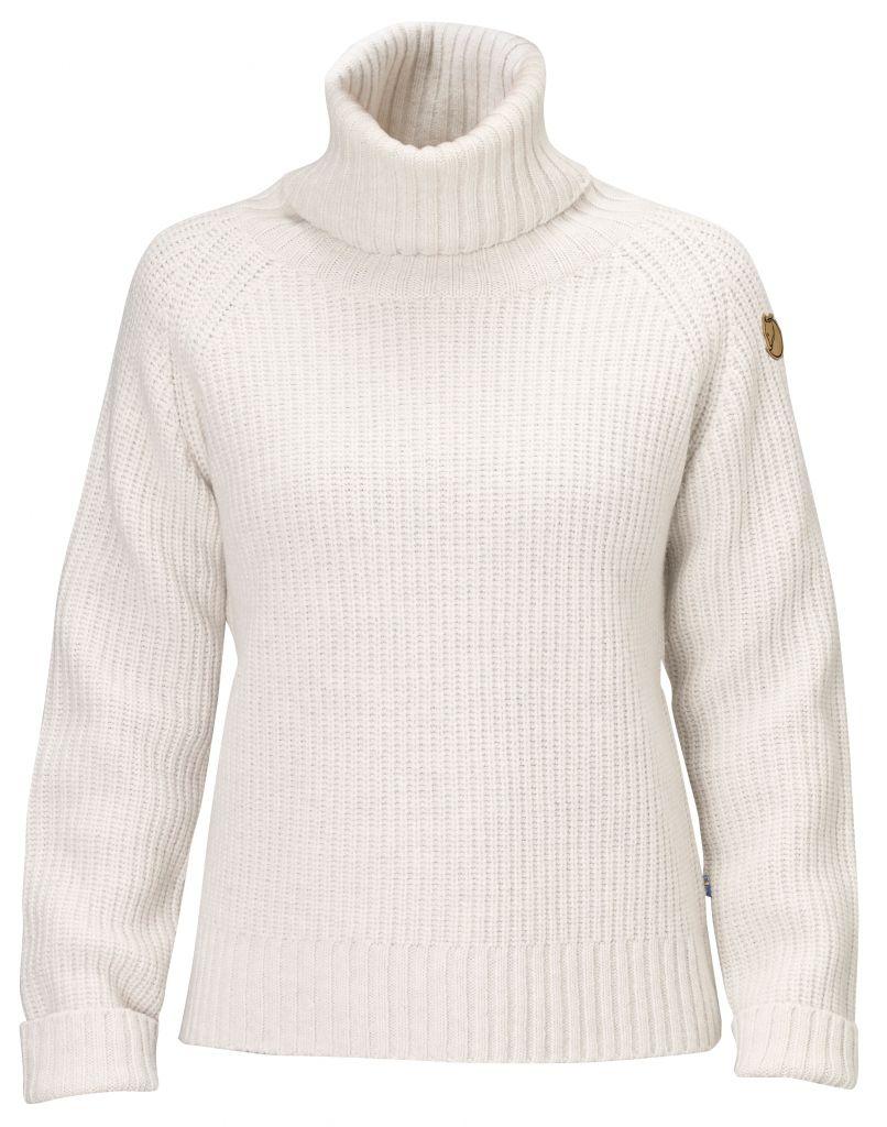 FjallRaven - Övik Wool Roll Neck Ecru - Wool Pullover - S