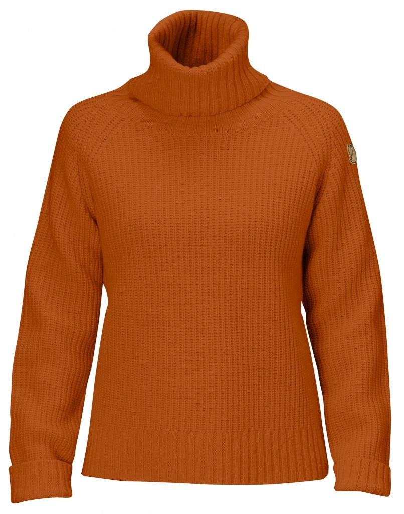 FjallRaven Övik Wool Roll Neck Autumn Leaf-30