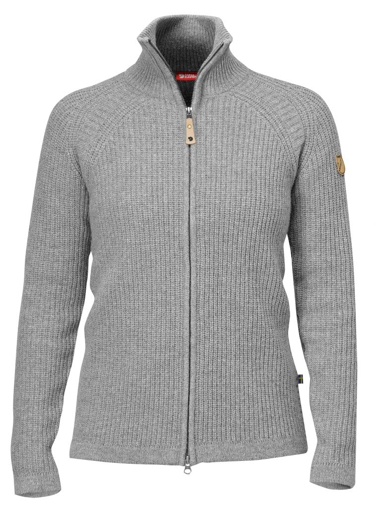 FjallRaven Övik Wool Cardigan Grey-30