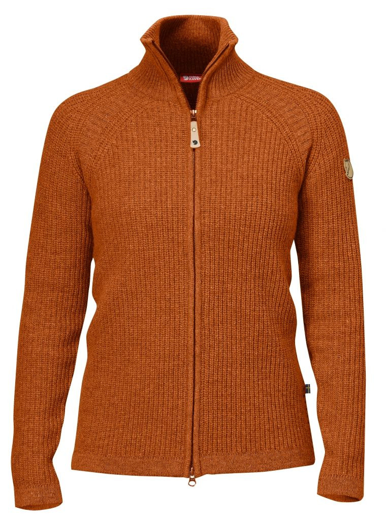 FjallRaven Övik Wool Cardigan Autumn Leaf-30
