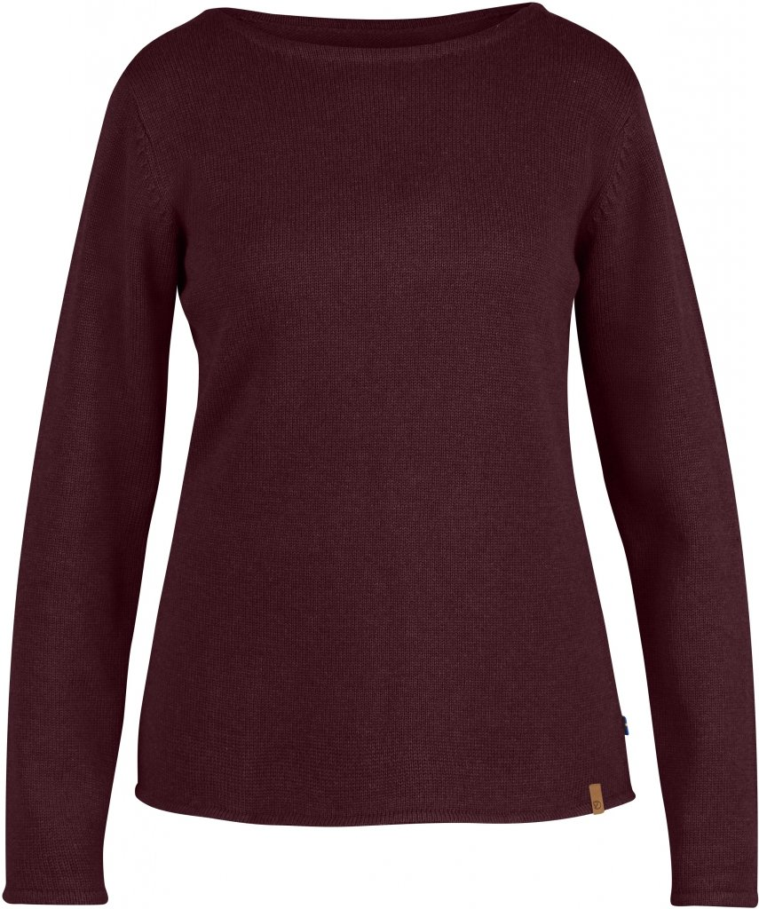 FjallRaven Kiruna Knit Sweater W. Dark Garnet-30