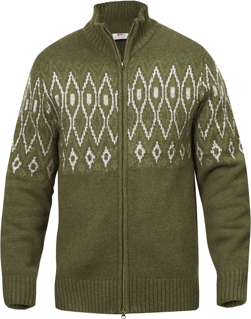 FjallRaven Sormland Jacquard Sweater Dark Olive-30