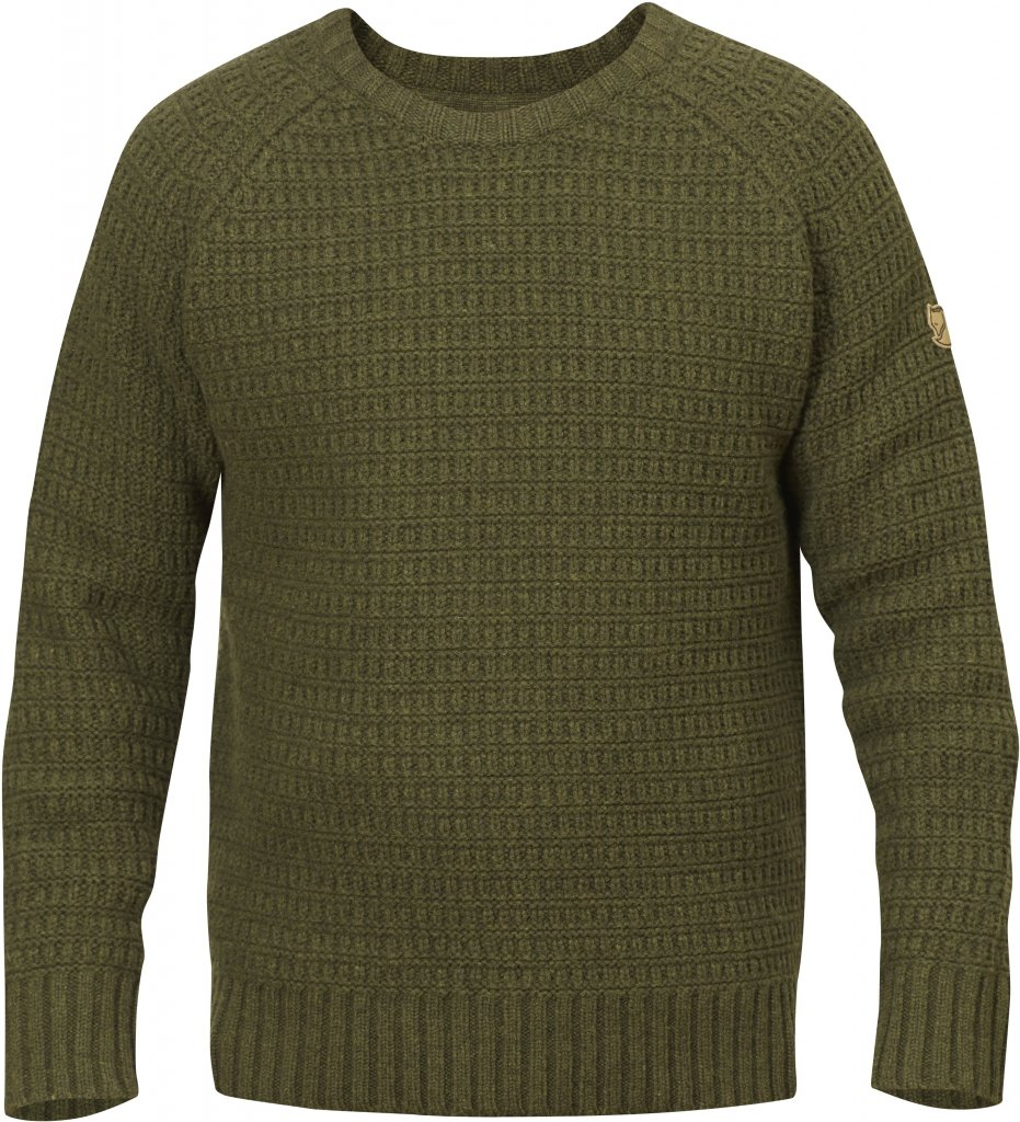 FjallRaven Sormland Roundneck Sweater Dark Olive-30