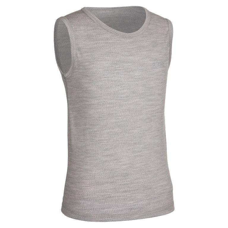 Icebreaker - Kids Oasis Tank Blizzard HTHR - T-Shirts - 1