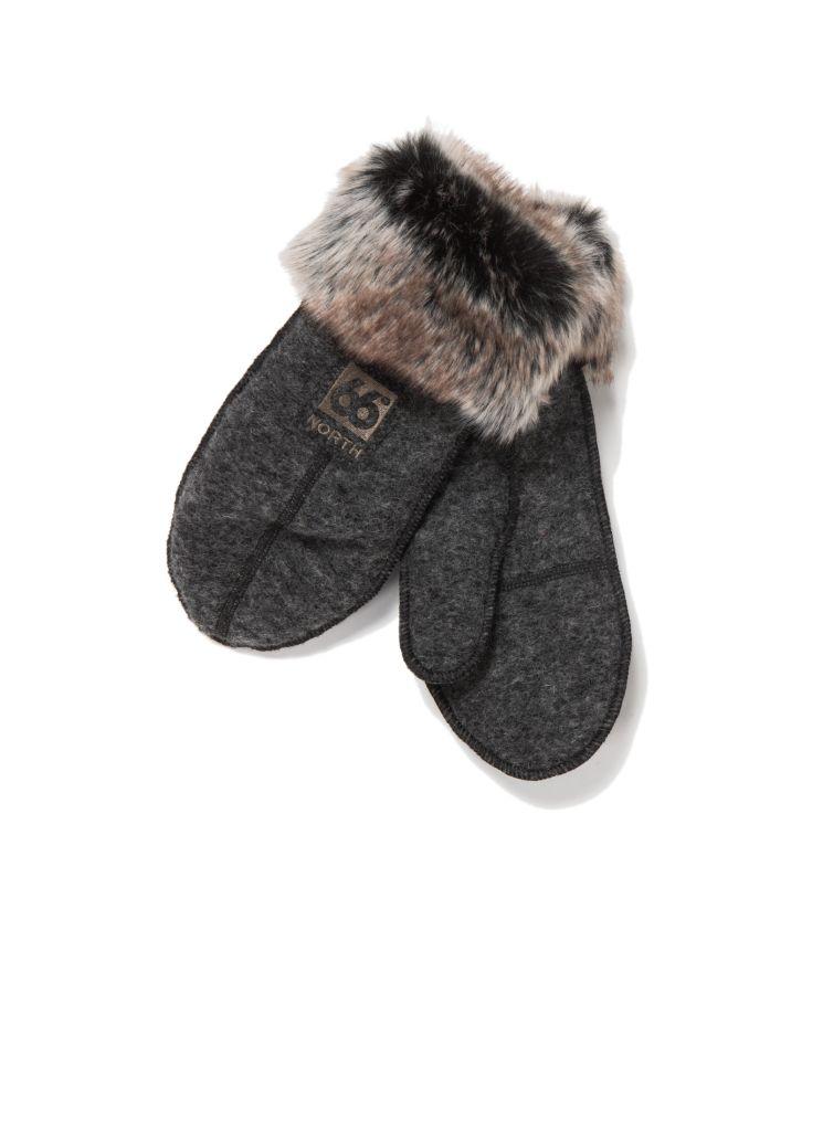 Kaldi Arctic Mittens W / Fur Ash Grey-30