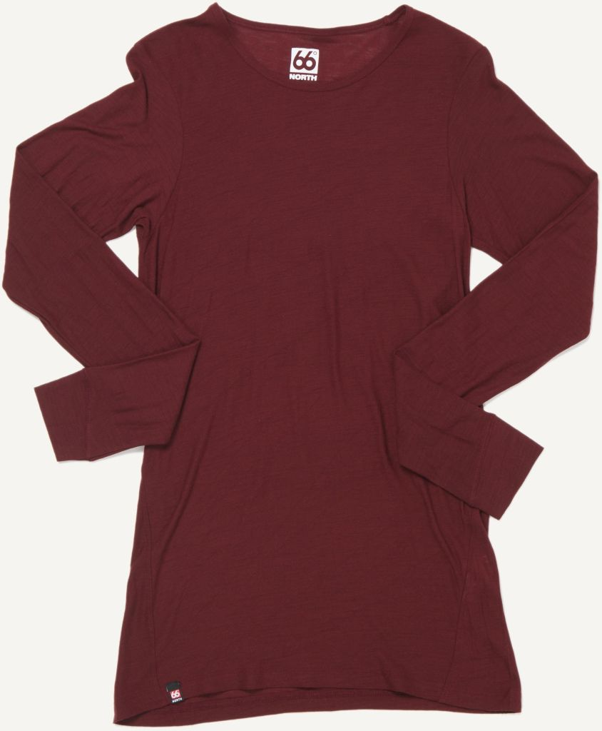 Skogar Women´s Long Sleeve Burgundy-30