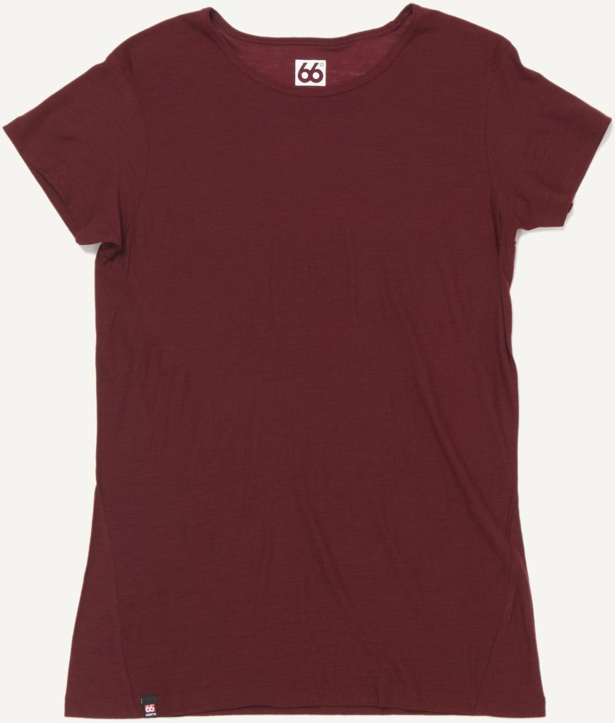 Skogar Women´s T-shirt Burgundy-30