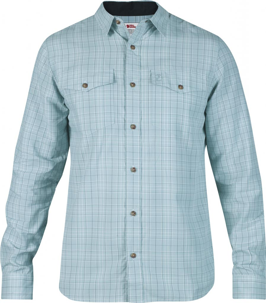 FjallRaven Abisko Cool Shirt LS Sky Blue-30