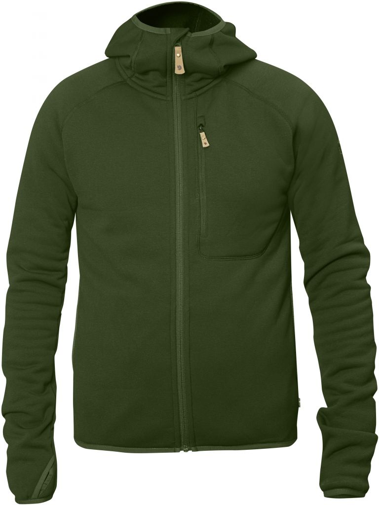 FjallRaven Abisko Fleece Hood Pine Green-30