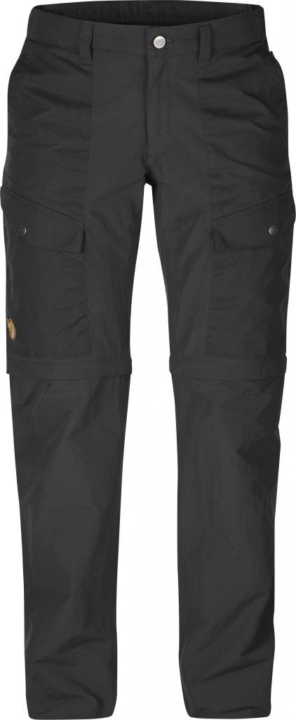 FjallRaven - Abisko Hybrid Zip Off Tr. W. Dark Grey - Zip-Off Pants - 46