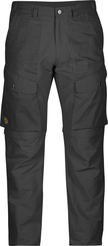 FjallRaven Abisko Hybrid Zip Off Trousers Dark Grey-30
