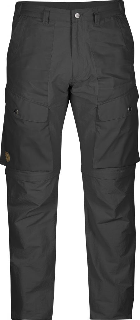 FjallRaven - Abisko Hybrid Zip Off Trousers Dark Grey - Zip-Off Pants - 46