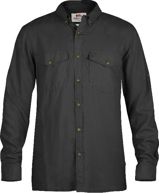 FjallRaven Abisko Vent Shirt LS Dark Grey-30