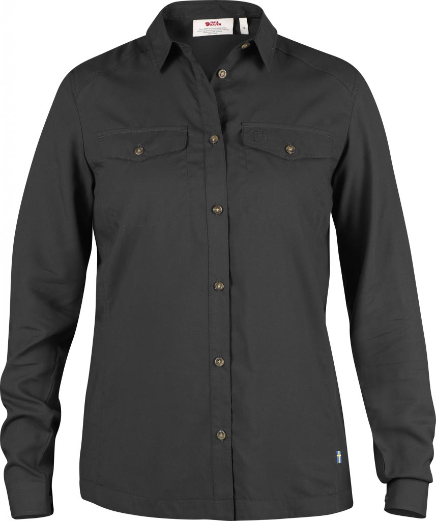 FjallRaven Abisko Vent Shirt LS W. Dark Grey-30