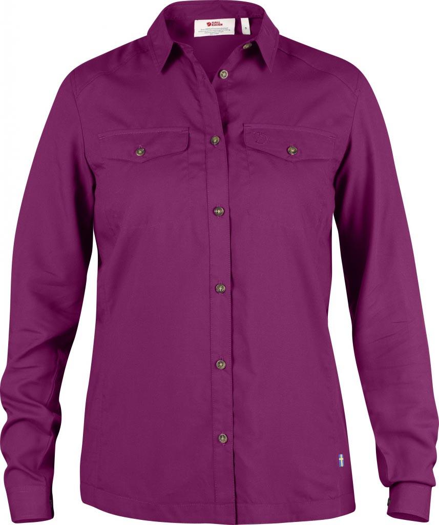 FjallRaven Abisko Vent Shirt LS W. Fuxia-30