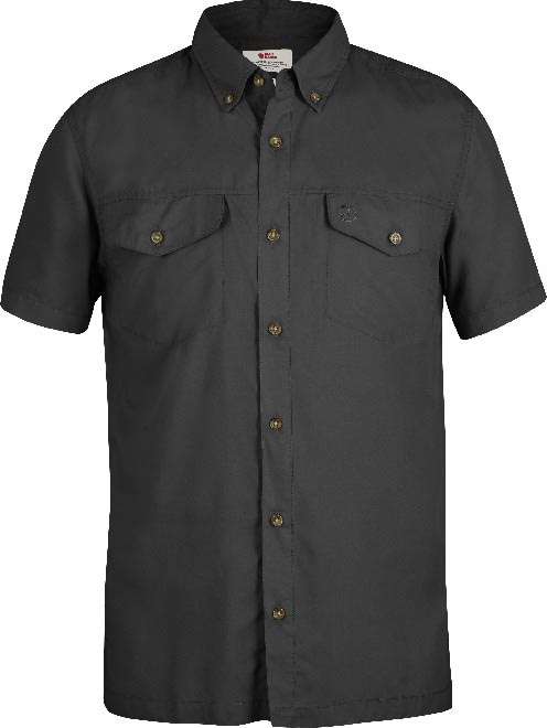 FjallRaven Abisko Vent Shirt SS Dark Grey-30