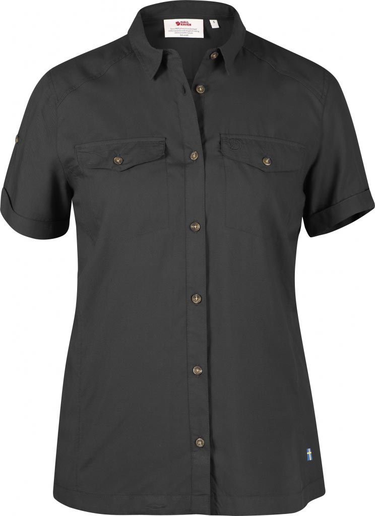 FjallRaven Abisko Vent Shirt SS W. Dark Grey-30