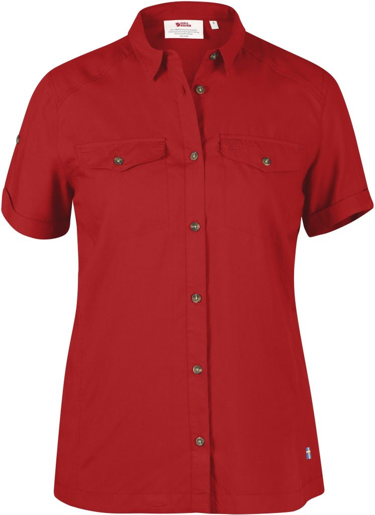 FjallRaven Abisko Vent Shirt SS W. Red-30